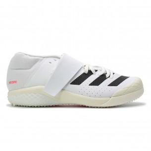 Adidas Javelin Unisex Bianco Nero Rosso Scarpe Chiodate e da Pista per atletica specialistica uomo e donna - 1