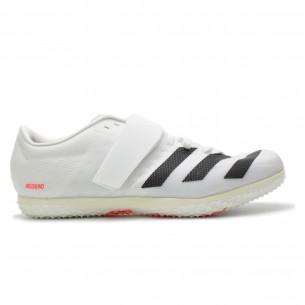 Adidas HJ Salto In Alto Unisex Bianco Nero Rosso Scarpe Chiodate e da Pista per atletica specialistica uomo e donna - 1