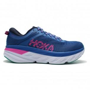 Hoka Bondi 07 Donna Blu Viola Scarpe Running Donna - 1