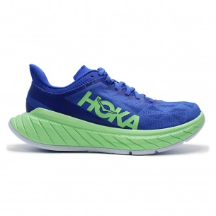 Hoka Carbon X 02 Uomo Blu Verde Scarpe Running Uomo - 2