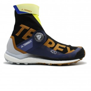 Adidas Terrex Agravic Pro Uomo Nero Blu Giallo NO Scarpe Running Uomo - 1