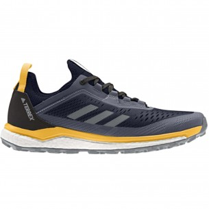 Adidas Terrex Agravic Flow GTX Uomo Grigio Giallo Scarpe Running Uomo - 1